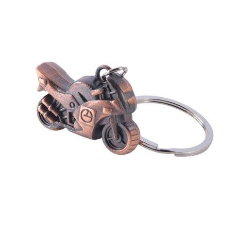 Zinc Alloy Motorcycle Bike Keychain (Copper)