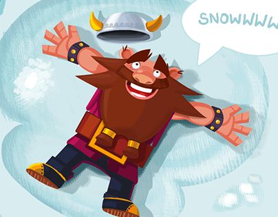 "Check out new work on my @Behance portfolio: ""Dwarf love snow!!!"" http://on.be.net/1NsByjH"