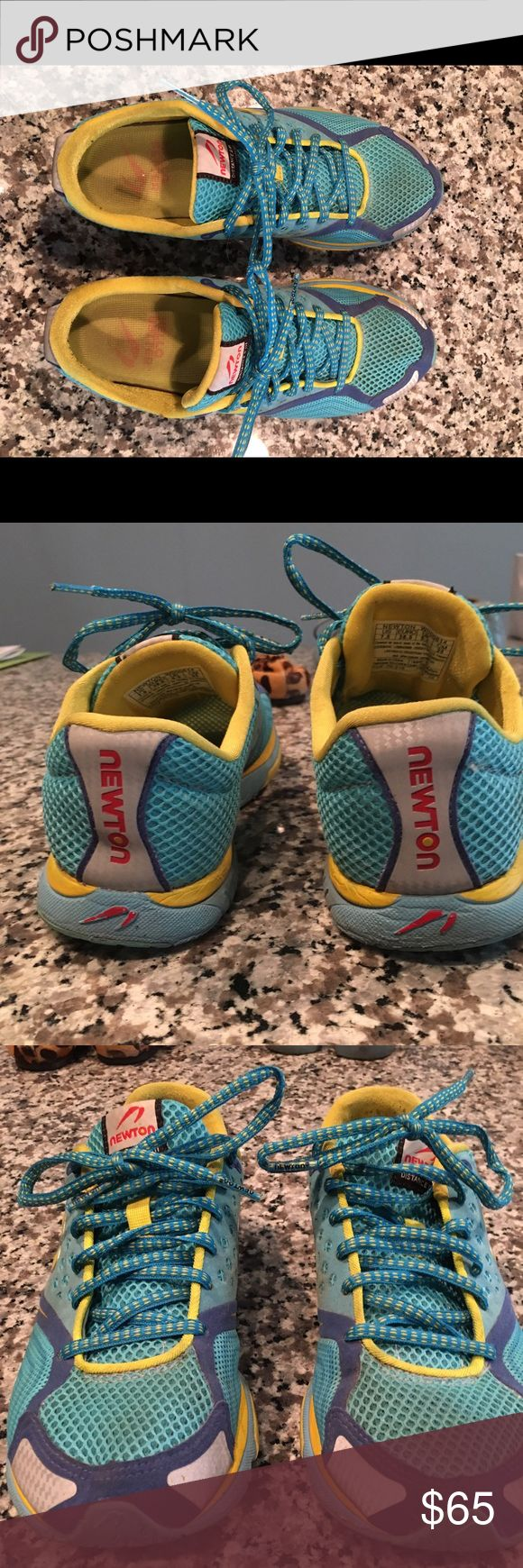 Newton Running Distance III Gently used Newton Distance 3 running shoes. Only ran in a handful of times, slightly too small for me. Size 7.5 Newton Running Shoes Athletic Shoes