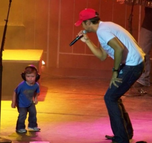 Luke Bryan & son