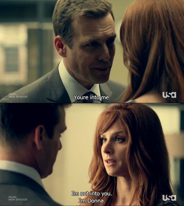 Probably my favorite Harvey/Donna scene ever. Donna is just awesome #suits