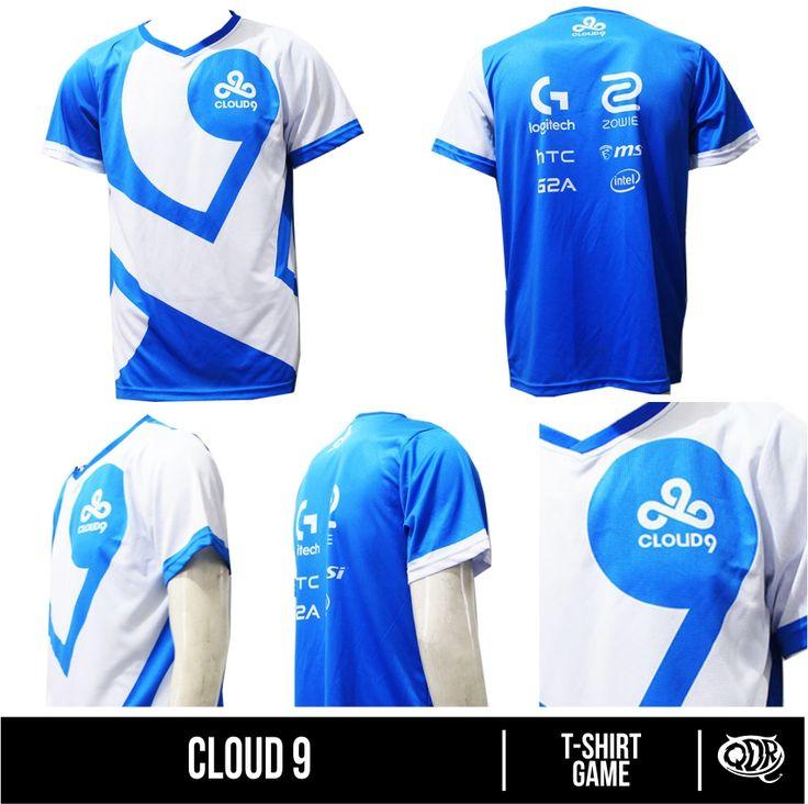 Cloud 9 Bahan : Dry FIt Printing: Sublimation  Model: T-shirt Game Bahan dan Pola yang nyaman dipakai sehari hari, motif dan hasil printing yang tajam, cerah dan tidak luntur.  Fast respon  WA/Sms no call: 081222970120  PIN BB : D5443117