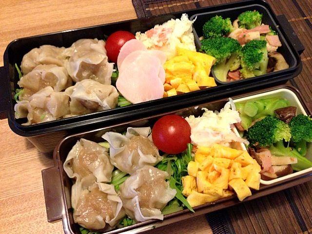 彩りが良いわ。自画自賛(笑) - 51件のもぐもぐ - お弁当♡シウマイ、ポテトサラダ、玉子焼き、ブロッコリーとベーコンのにんにく炒め、サラダ by usaco123