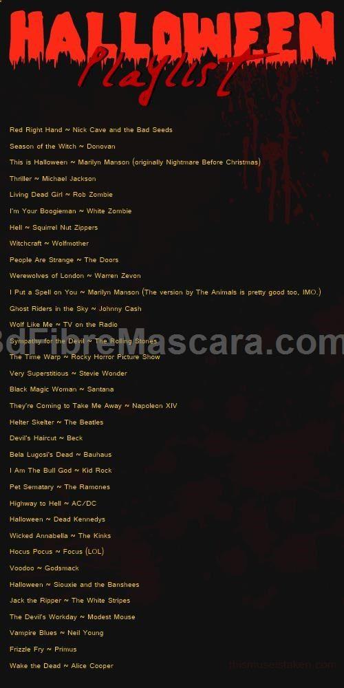 good halloween playlist