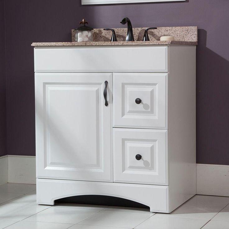 glacier bay regency 30 in vanity cabinet only in white on home depot vanity id=96063
