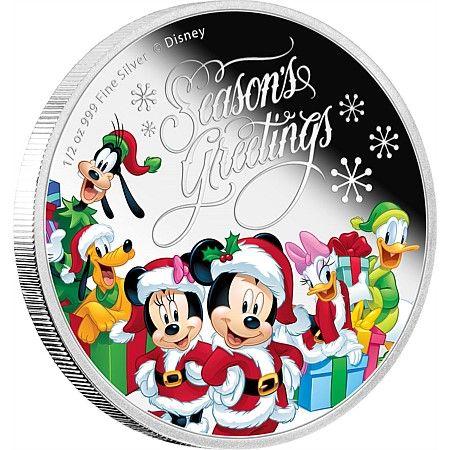 Disney - Season's Greetings (2016) 1/2 oz Silver Coin   New Zealand Mint