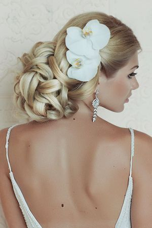 Wedding Hairstyles ~ Updo & neutral make-up