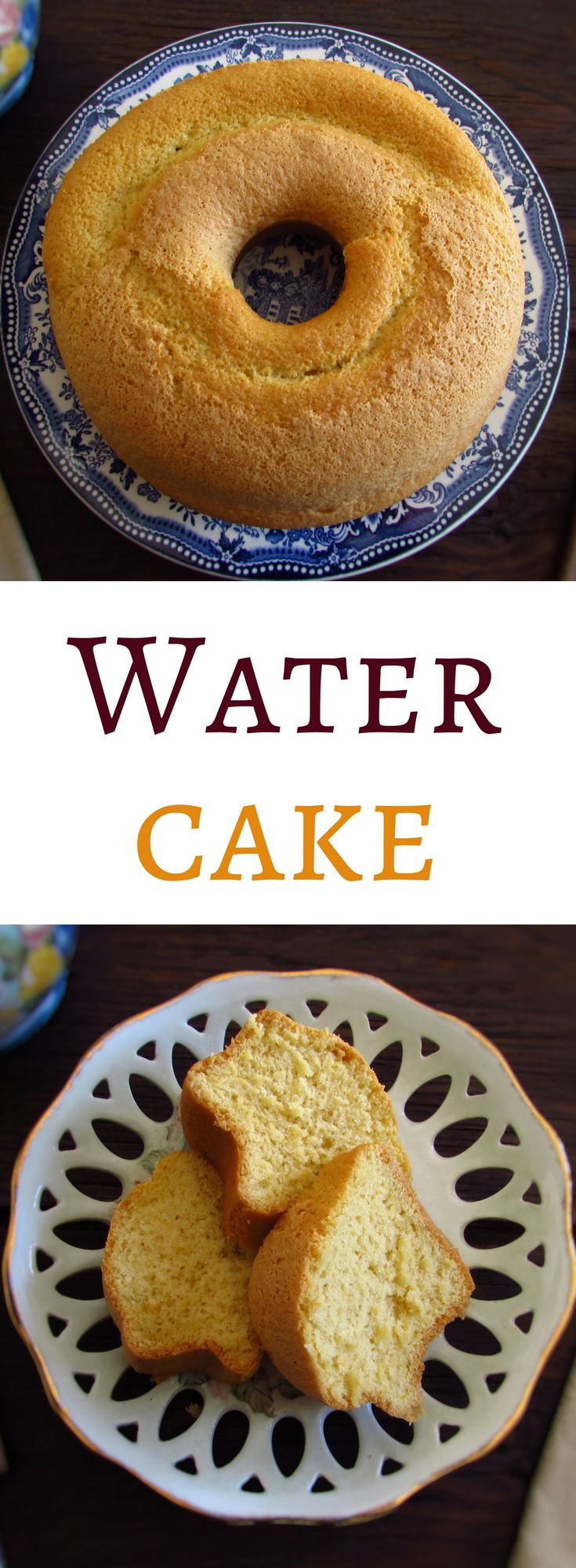 Water cake | Food From Portugal. Do you like tasty cakes but light and fluffy? We present this delicious water cake recipe, it's easy to prepare, economic and has excellent presentation! Serve with orange juice… #recipe #cake