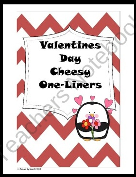Valentines Day or Love Cheesy One-liners product from Life-on-the-Fourth-Floor on TeachersNotebook.com valentines