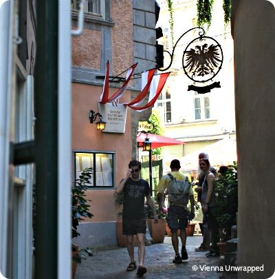 Daring to advance to Griechengasse, tourist epicentre of all Viennese streets. Worth it.