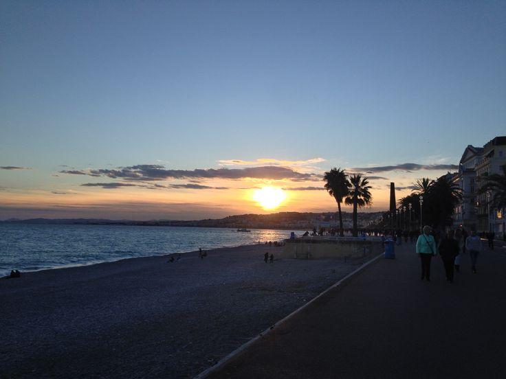 Nice Promenade des Anglais Coucher de soleil