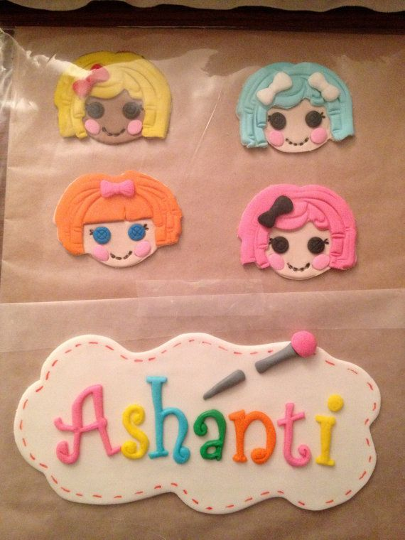 Cake Decorating Things Name : Lalaloopsy Cake Decorating Kit Name plaques, Lalaloopsy ...