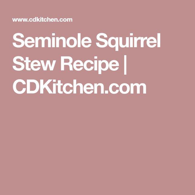 Seminole Squirrel Stew Recipe   CDKitchen.com