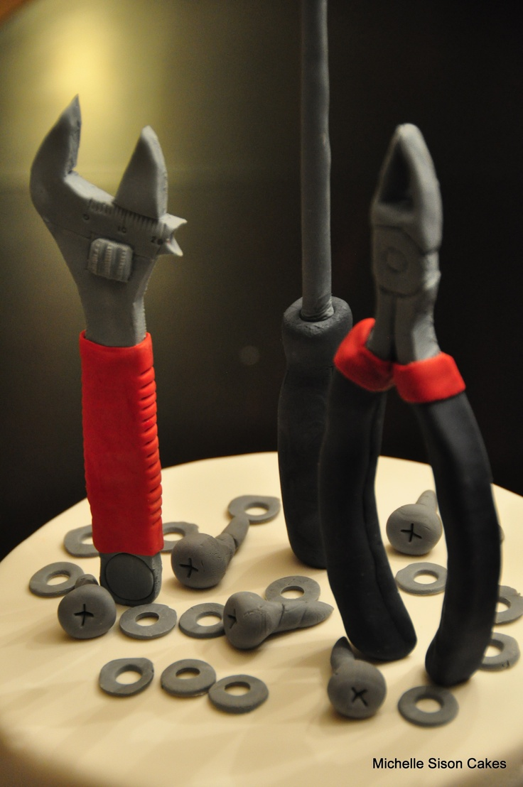 Handyman tools cake toppers | Cakes and dessert tables | Pinterest ...