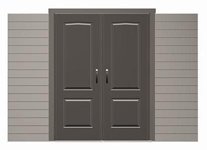 Lifetime Storage Sheds Doors - 0145 Doors for 11-Foot Wide Lifetime Sheds