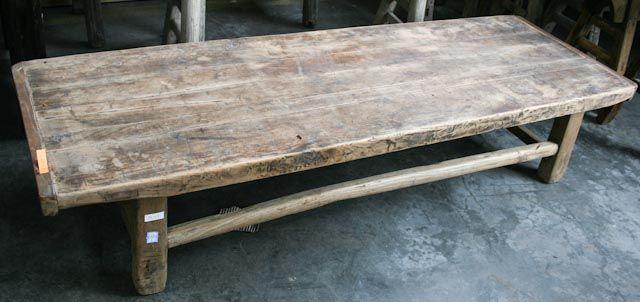 Kleine salontafel oud natuur hout kleuren naturel materiaal hout afmetingen hoogte x - Badkamer natuur hout ...