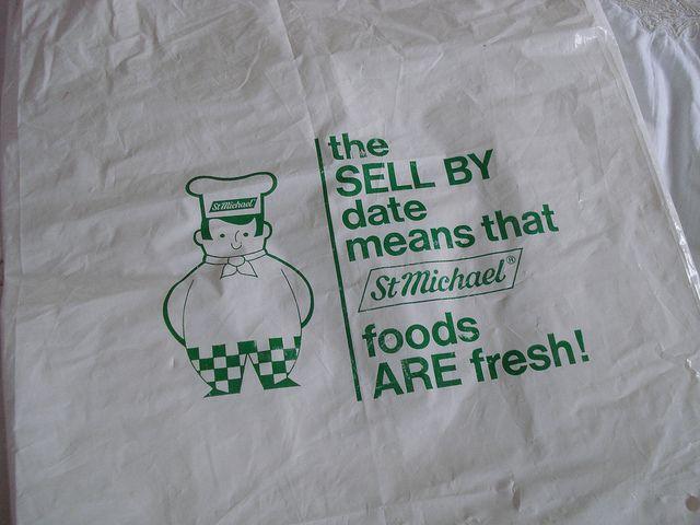 Late 1970s Marks & Spencer plastic carrier bag