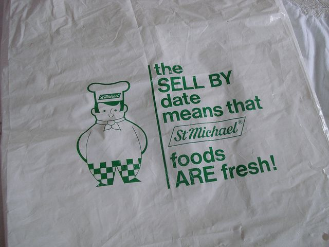 Late 1970s Marks & Spencer plastic carrier bag