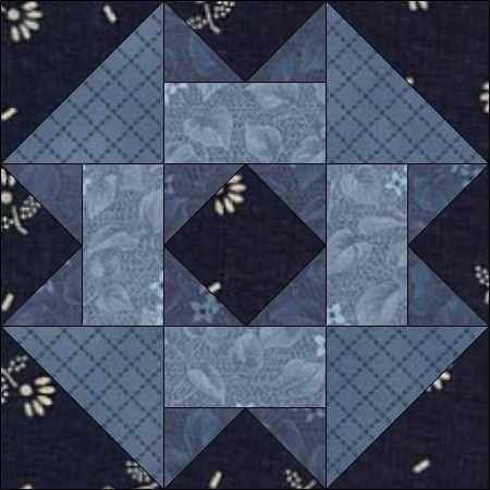 August 25 Garden Square. Maggie Malone put me onto Garden Square. You'll find it in her wonderful reference 5,500 Quilt Block Designs (2003). It's not in print anymore, but I managed to snaffle a second-hand copy.