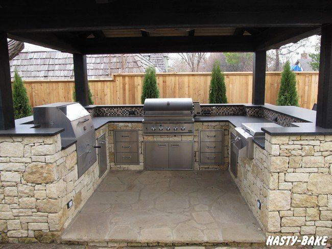 19 best images about bbq bar on pinterest dried for Outdoor kitchen backsplash ideas