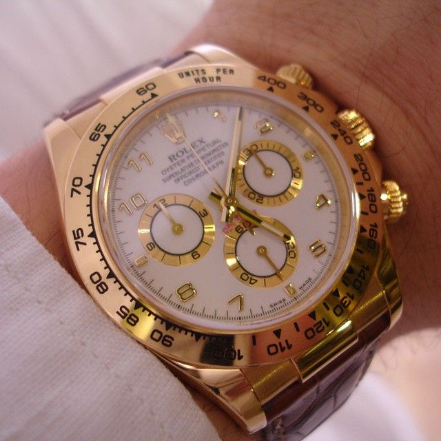 Marvelous Yellow Gold Rolex Daytona. Visit our shop at http://ift.tt/1z1v9U6 and follow to keep updated. by royalwatchery from Instagram http://ift.tt/1vW7BwR