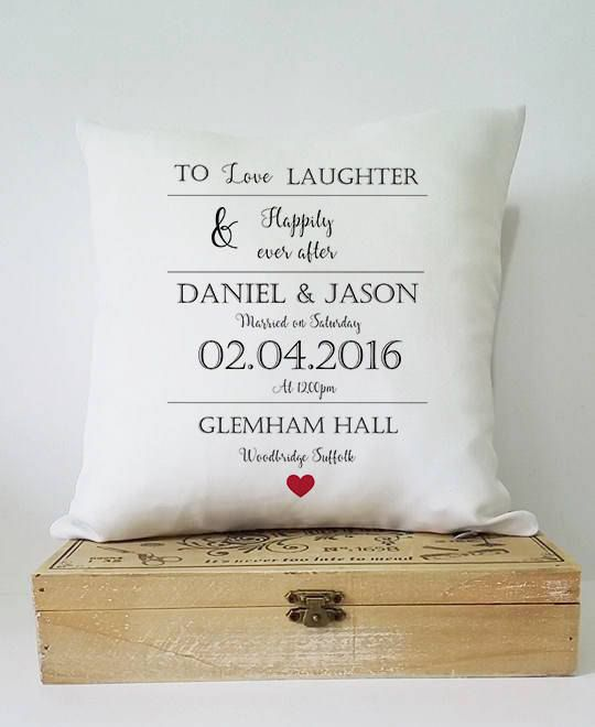 personalised wedding gift, wedding cushion, gift for couple, wedding gift, personalised cushion, wedding present, personalised gift, cushion Mini cushion 25cm by 25cm the perfect gift to decorate your home and a beautiful keepsake wedding gift, please message us in the note to