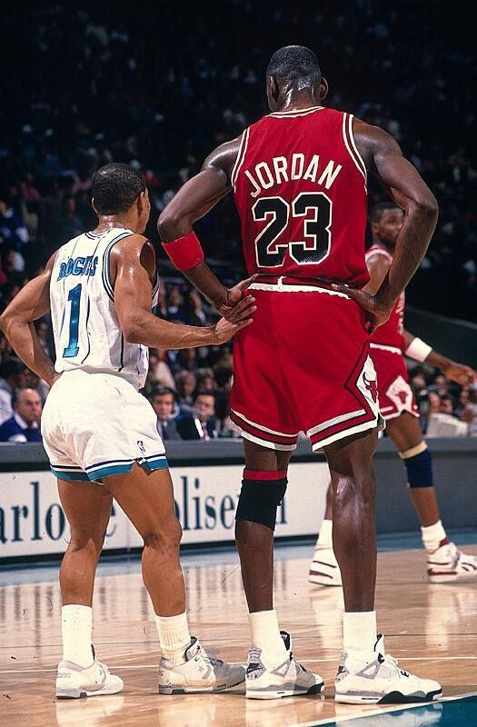 Muggsy Bogues and Michael Jordan!