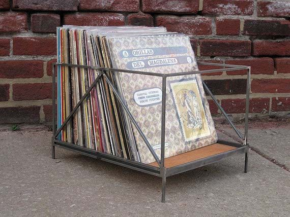 Vinyl Storage Record Crate Handmade For Lps By Territoryhardgoods 150 00