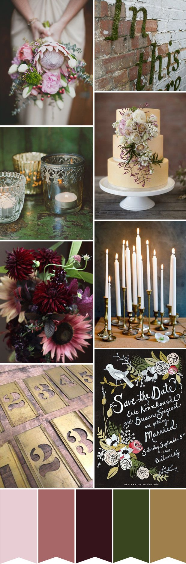 Botanical Inspired Colour Board - Read more on One Fab Day: http://onefabday.com/botanical-inspired-colour-board/
