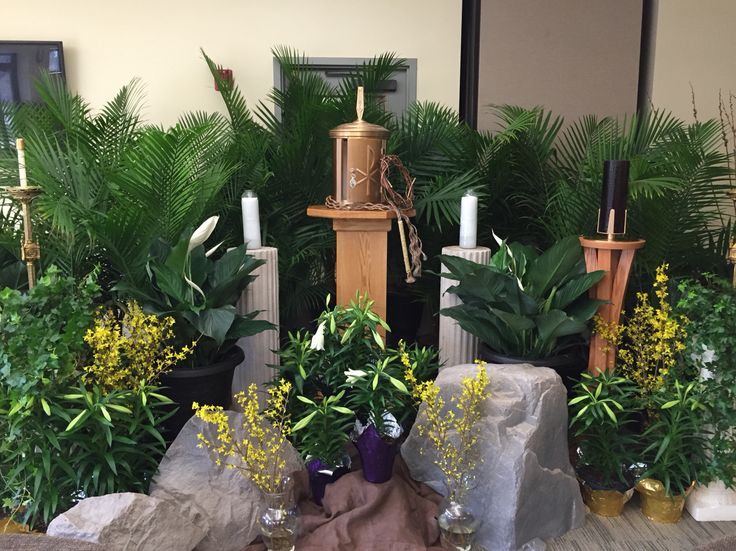 Altar of Repose - Holy Thursday Notre Dame Catholic Church Clarendon Hills IL