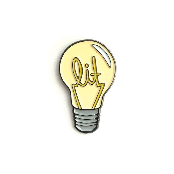 it is lit Soft enamel pin, 25.40mm x 15.30mm