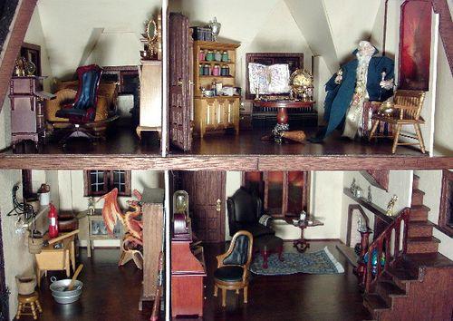 Glencroft Dollhouse   Debs Minis Glencroft Dollhouse Interior. Dollhouse  InteriorsDollhouse IdeasTudorDoll HousesMiniatures