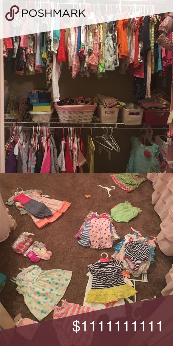 MAJOR CLOSET CLEAN OUT; starting to post pics asap Clothes ranging from newborn to 12 months (ALL GIRLS) I also have shoes, brand new socks, etc. LIKE IF YOU'RE INTERESTED SO I'LL TAG YOU! I'm READY to get this closet cleaned out for more!!!!! 😉💜👛💐🎀🛍 *** Let's bundle and make some deals!!! girl clothes, all brands Other