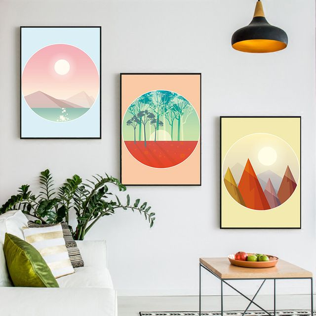 1 9 Nordic Poster Beauty Natural Scenery Canvas Painting Living Room Home Decoration Wall Art Pos Poster Wall Art Printable Posters Wall Art Wall Art Pictures