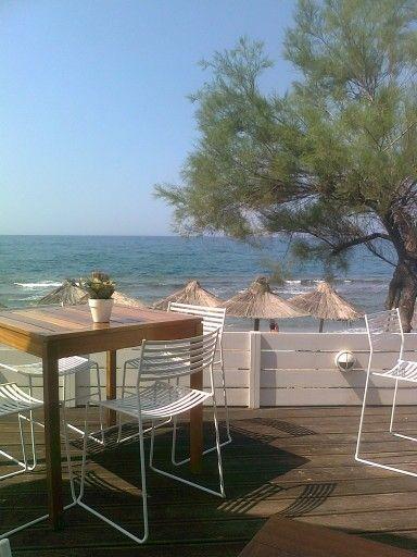 Beach bar, Rethymnon, Crete