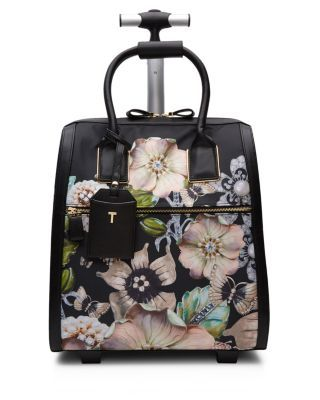 Ted Baker Gem Gardens Inez Carry On   Polyester/polyurethane/cotton   Imported   Retractable metal pull handle   Double top handles with keeper   Two-way zip closure; lined   Exterior zip pocket,
