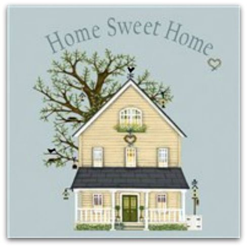 Home Sweet Home Greetings Card - Sally Swannell