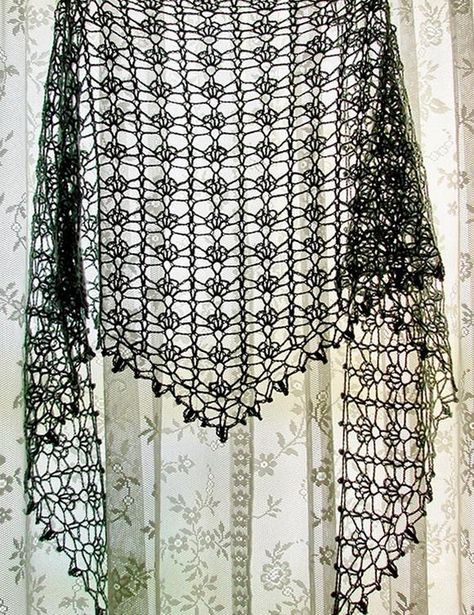 Crochet Lace Shawl For Summer - Pattern More