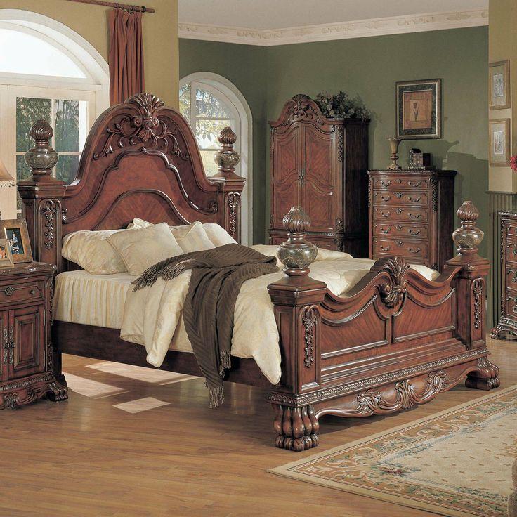 Yuan Tai Furniture KL630 Kelsey Marble Post Bed, Dark