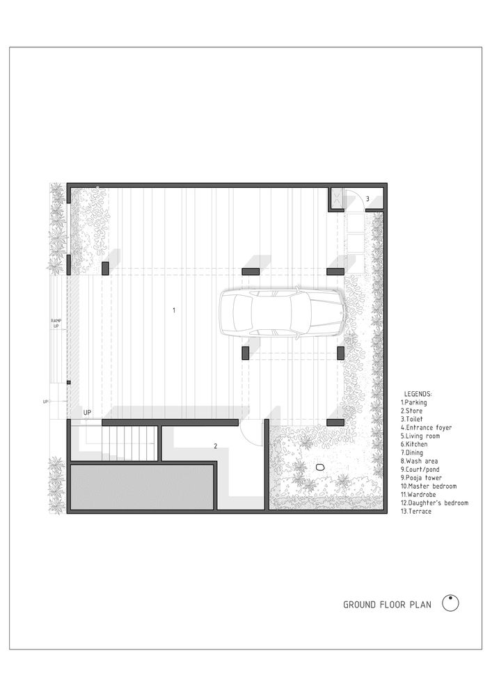 Gallery Of The H Cube House Studio Lagom 22 Floor Plans Ground Floor Plan Home Studio