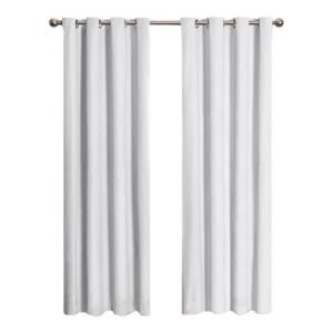Eclipse Cassidy Blackout White Polyester Grommet Curtain Panel, 63 in. Length 12423052063WHI at The Home Depot - Mobile