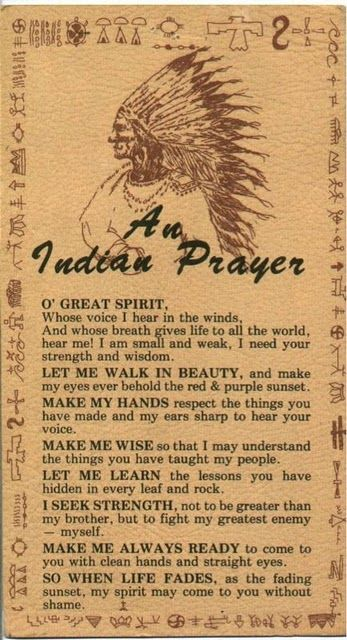 An Indian Prayer