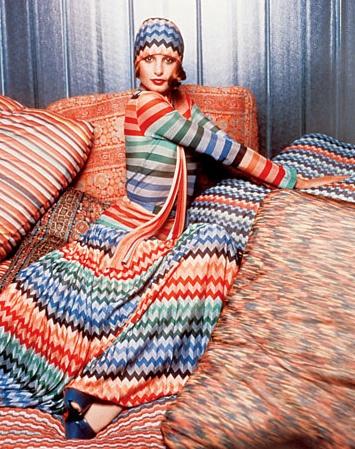 Apollonia van Ravenstein wearing vintage Missoni, 1970s | Hearts a Flutter Inspiration