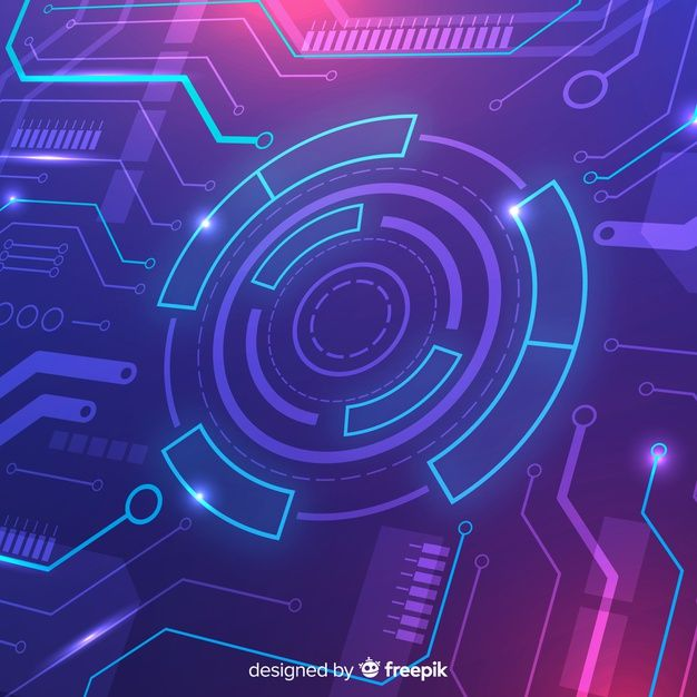 Download Technology Concept Background With Neon Light For Free