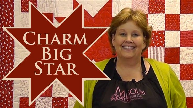 Charm Big Star Quilt- Quilting With Charm Packs! Another great video tutorial from Missouri Star Quilt Co #quilting #patchwork #tutorial