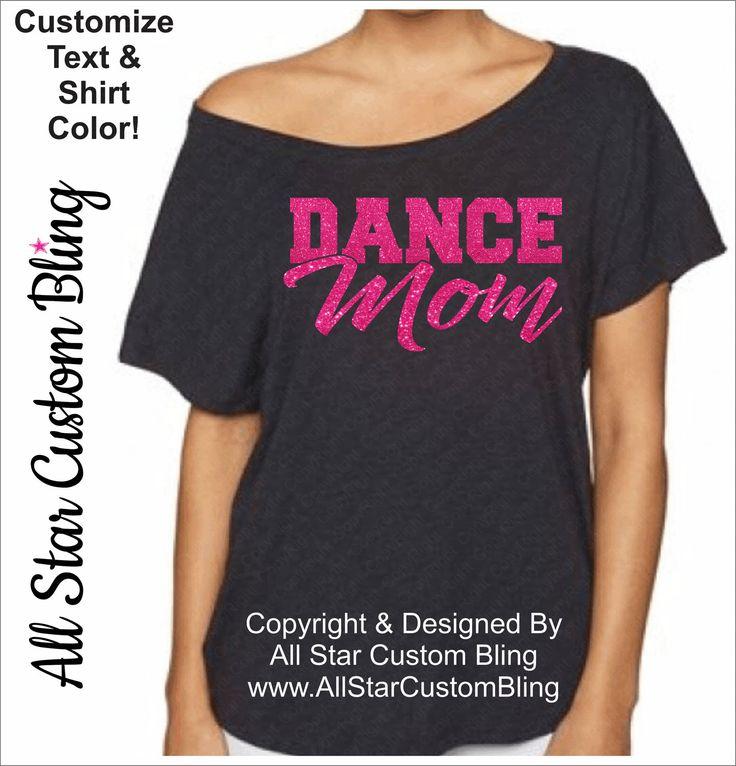 Dance Mom Off Shoulder Shirt, Glitter Dance Mom Shirt, Dance Mom Dolman Shirt, Dance Mom Tee by AllStarCustomBling on Etsy