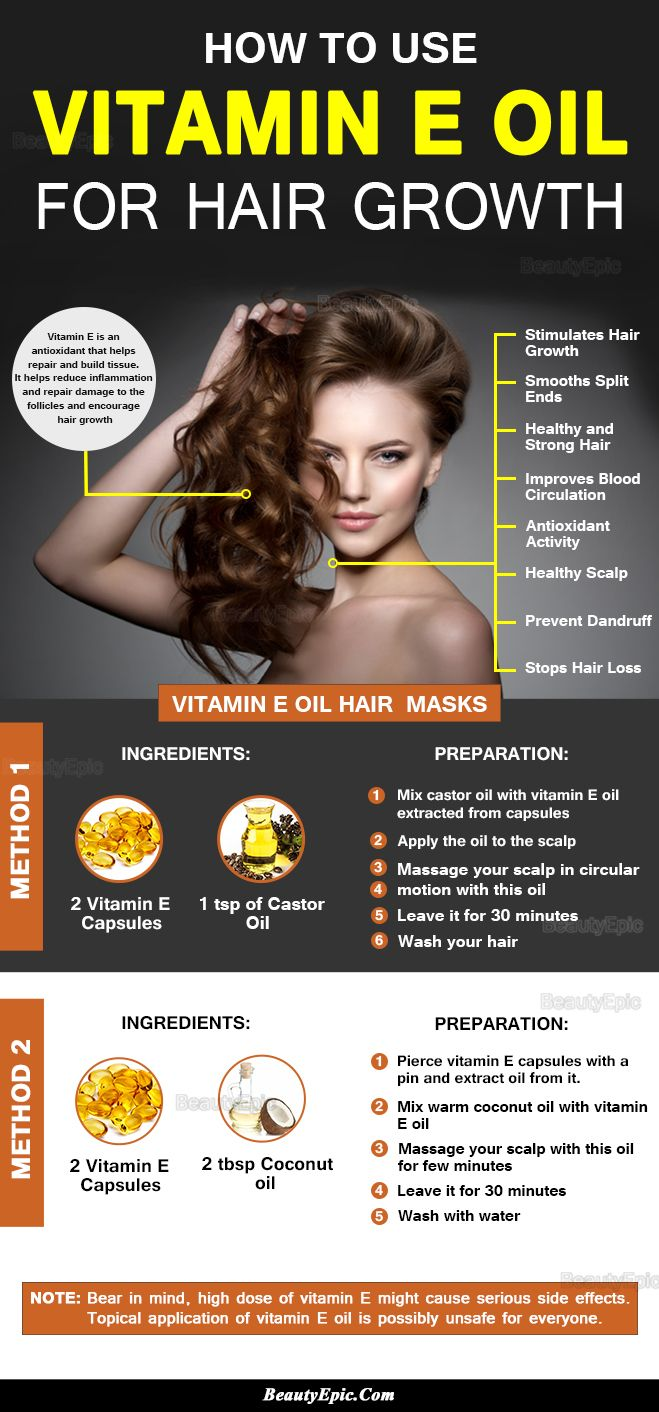 How to use vitamin e oil for hair growth
