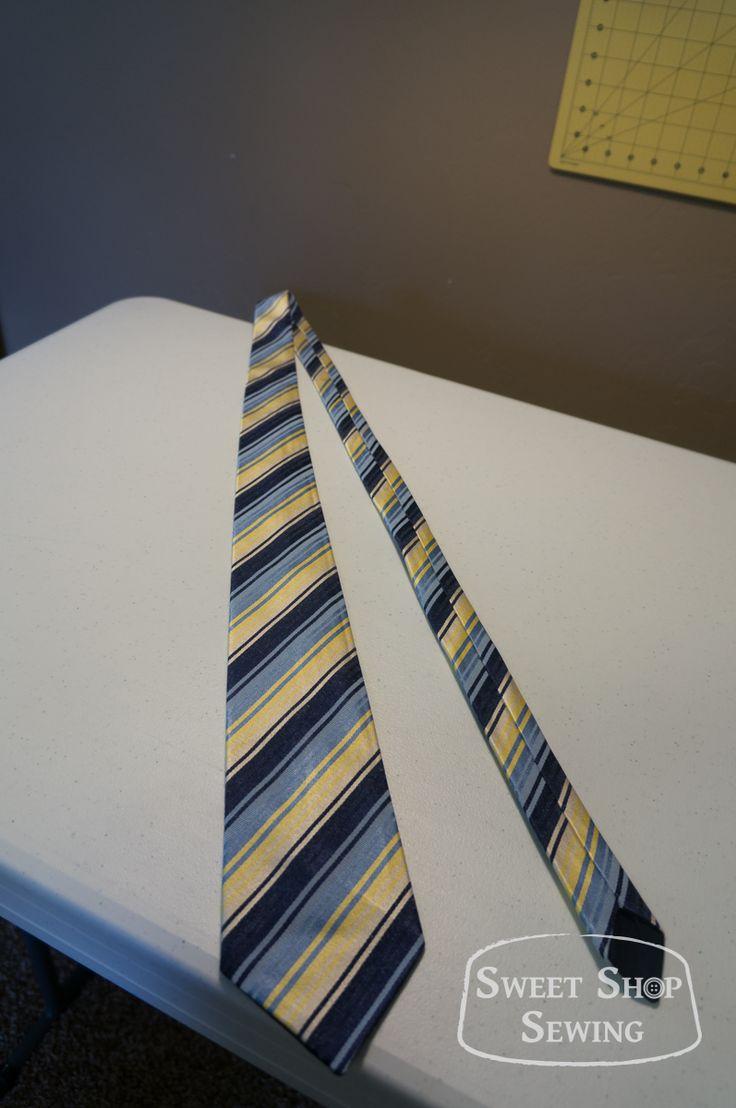 Free men's neck tie pattern and tutorial