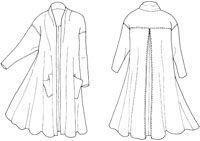 Folkwear Patterns 254 Swing coat