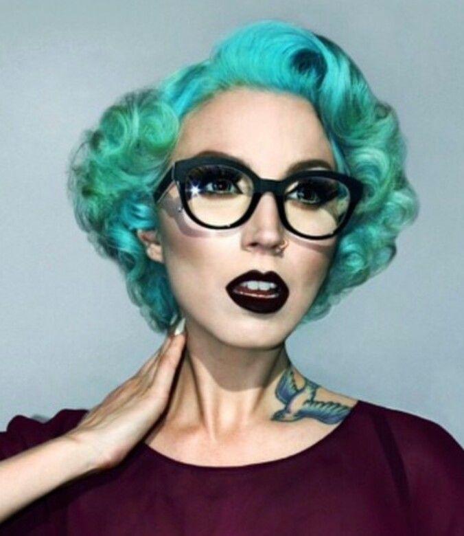green vintage dyed hair